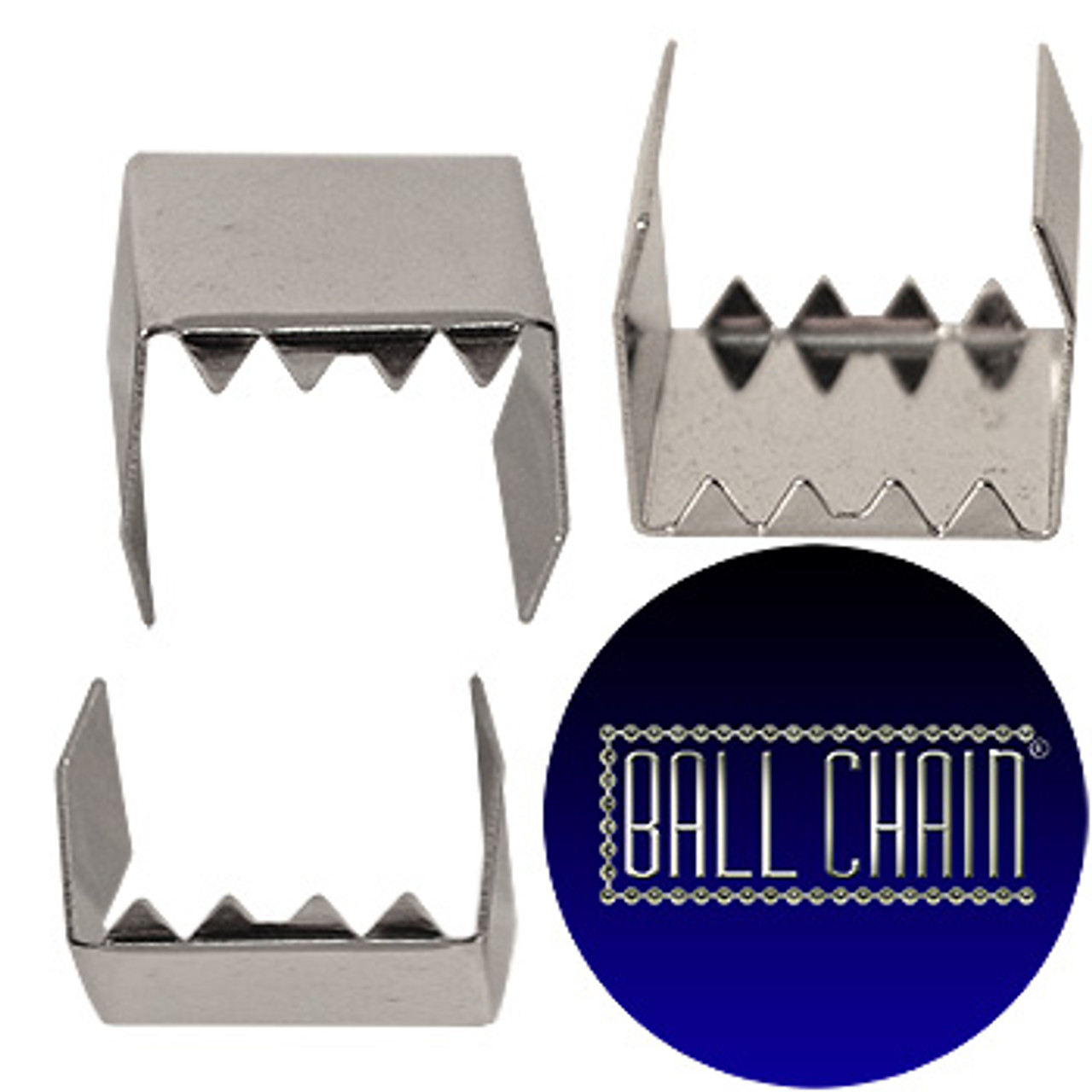 Nickel Plated Metal Clamps - 15 mm Length