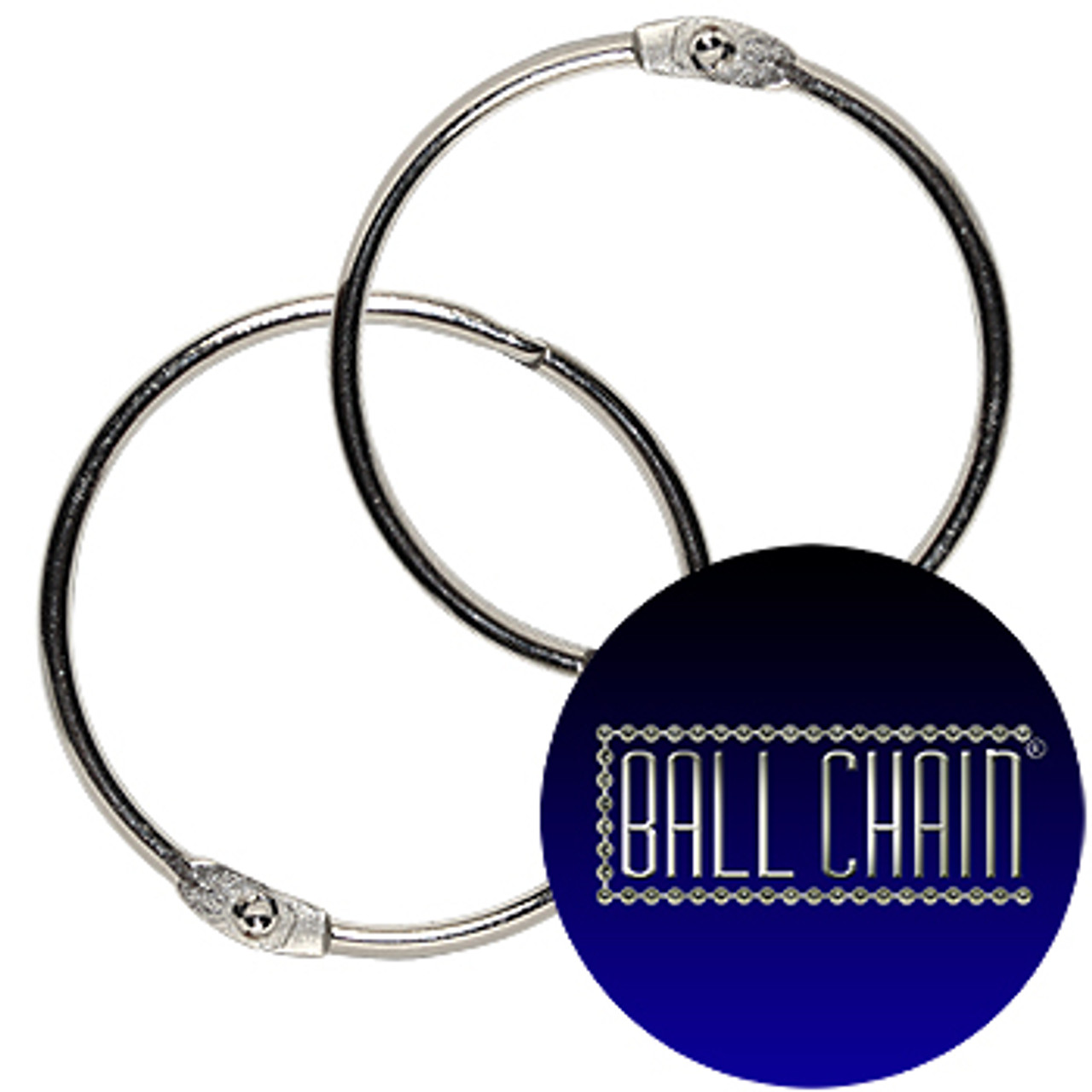 2 Inch Nickel Plated Steel Binder Rings