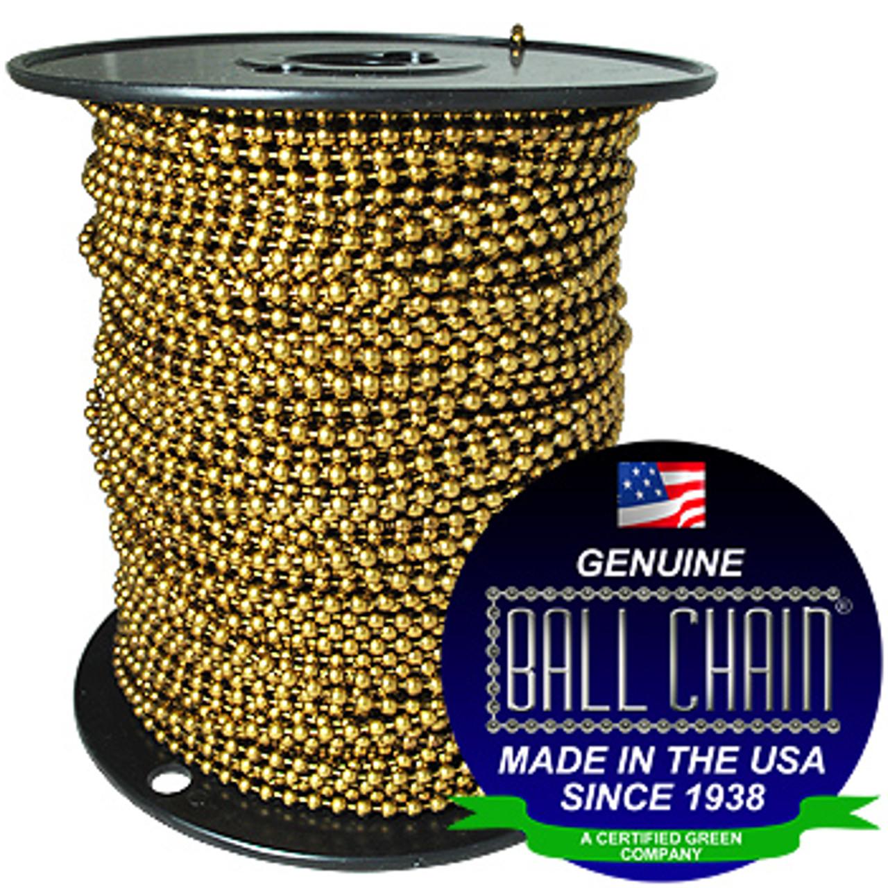 #10 Antique Brown Ball Chain Spool