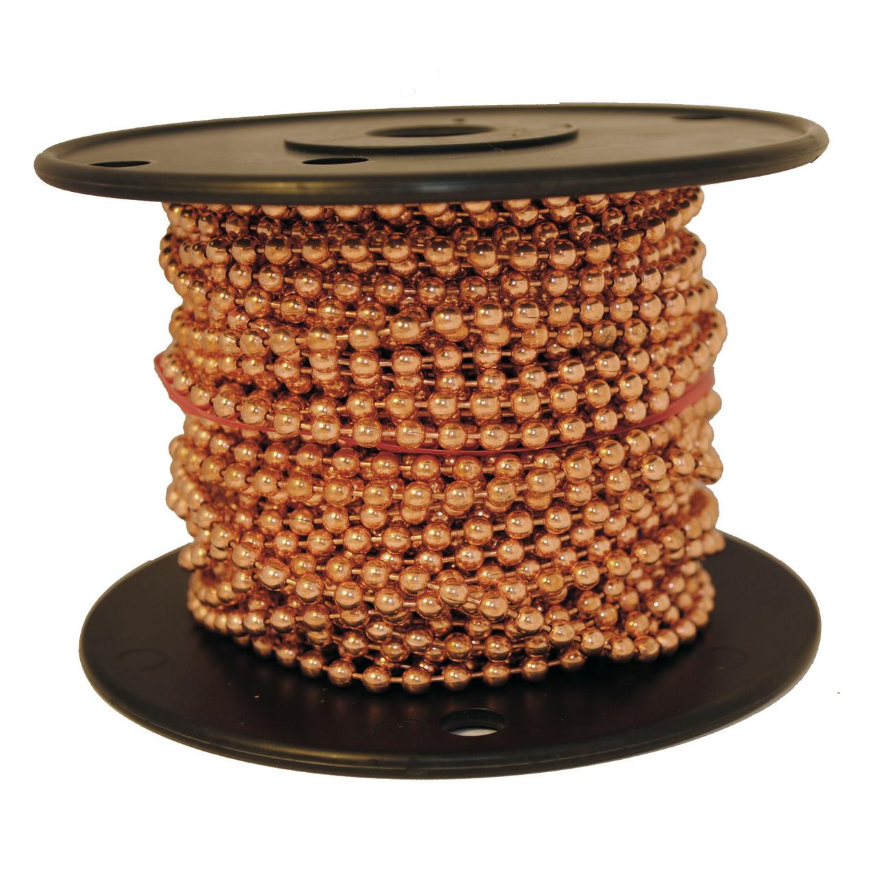 #10 copper ball chain spool on a black plastic spool. Made of 100% copper.