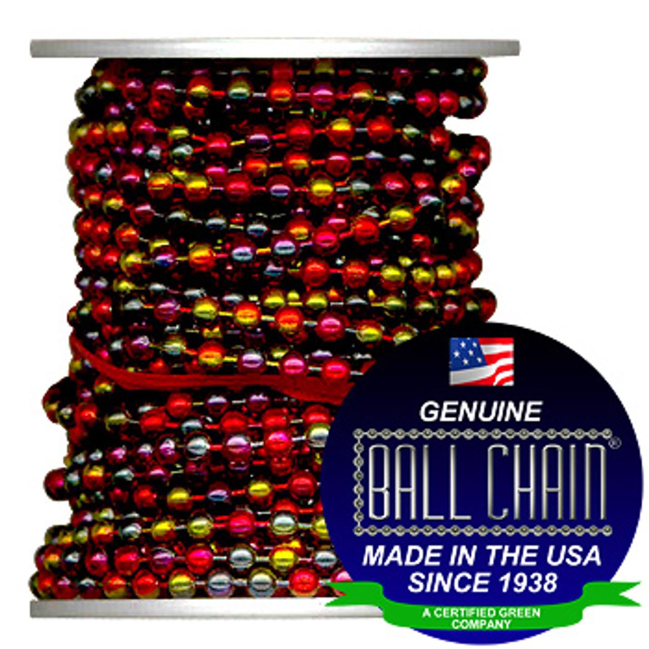 #6 Rainbow Coated Ball Chain Spool