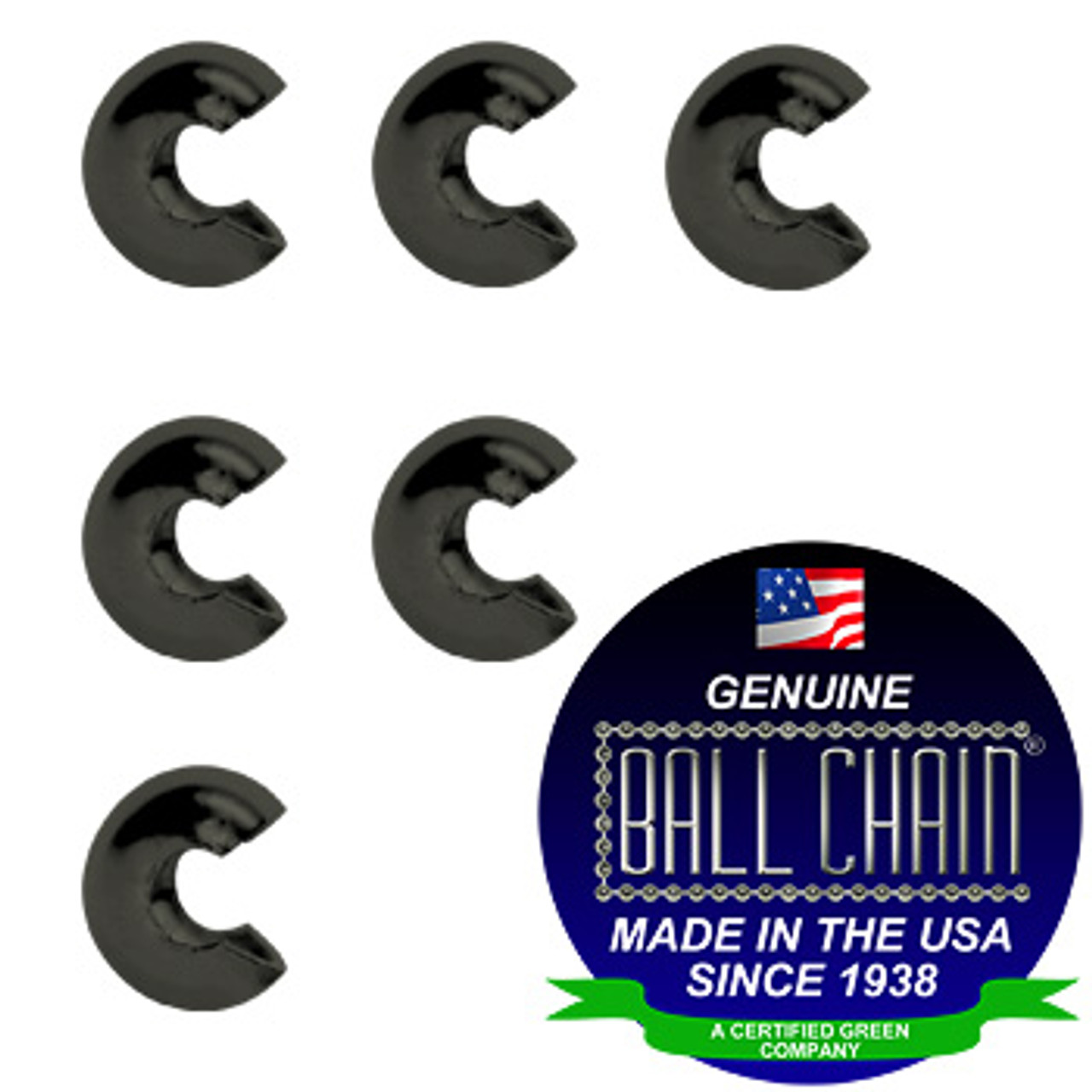 5/16 Inch Gun Metal Open Ball