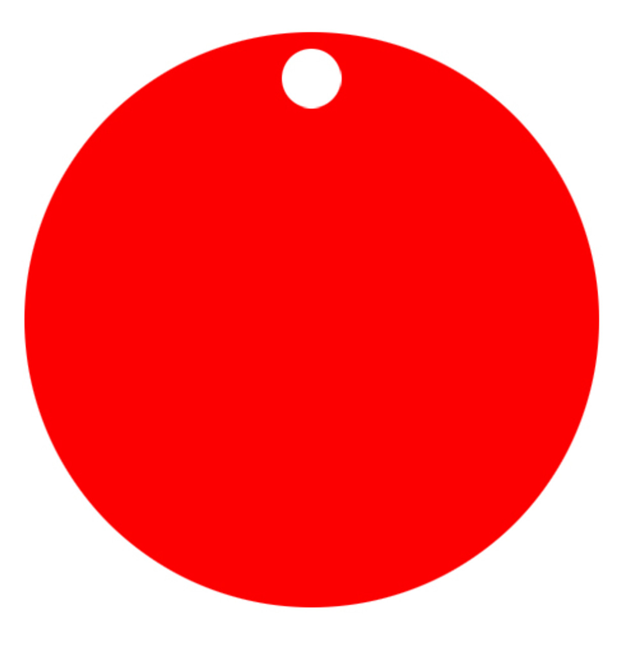 Red Anodized Aluminum 1.5 inch Circle Tag