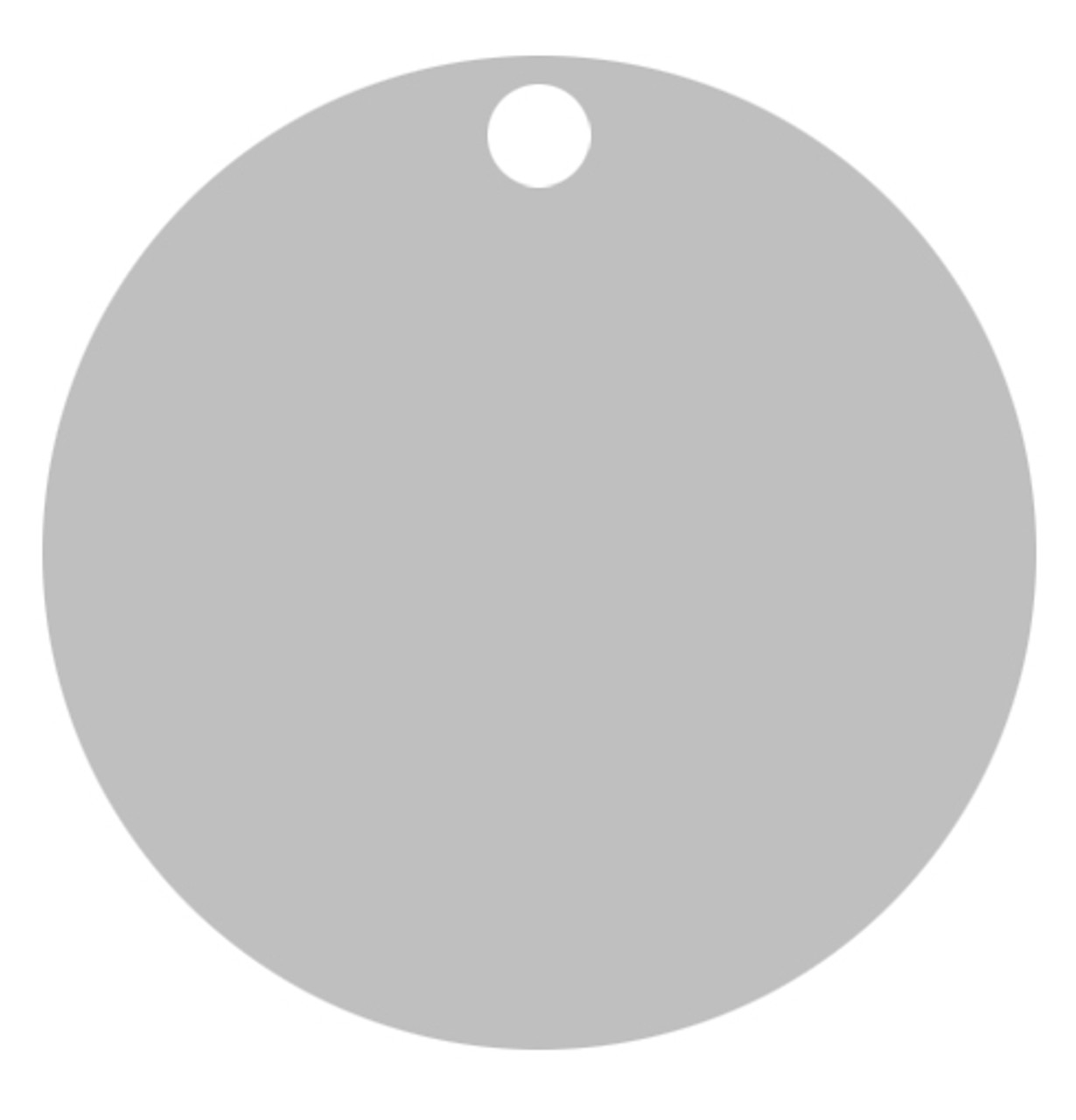 Silver Anodized Aluminum 1.5 inch Circle Tag