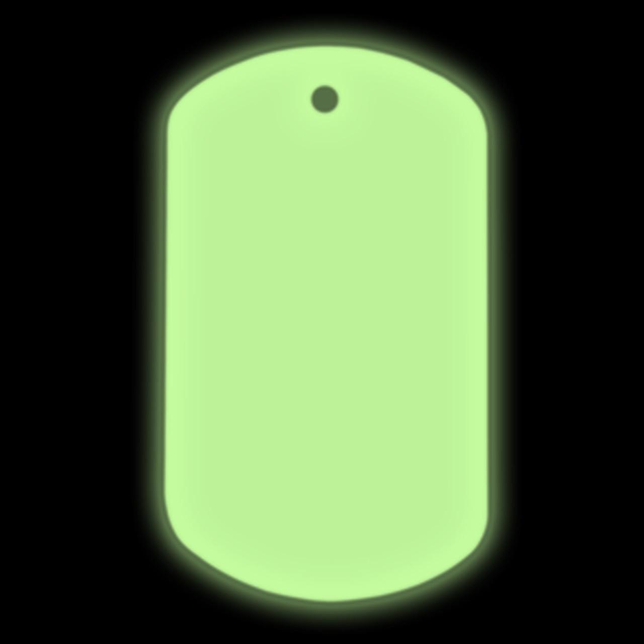 Glow in the dark blank dog tags