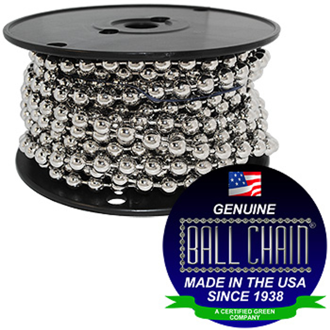 #30 Nickel Plated Steel Ball Chain Spool