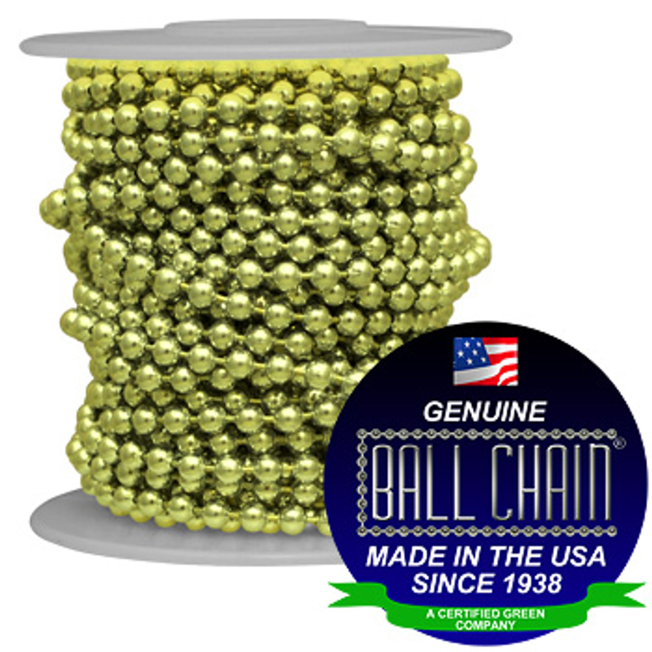 #30 Yellow Brass Ball Chain Spool