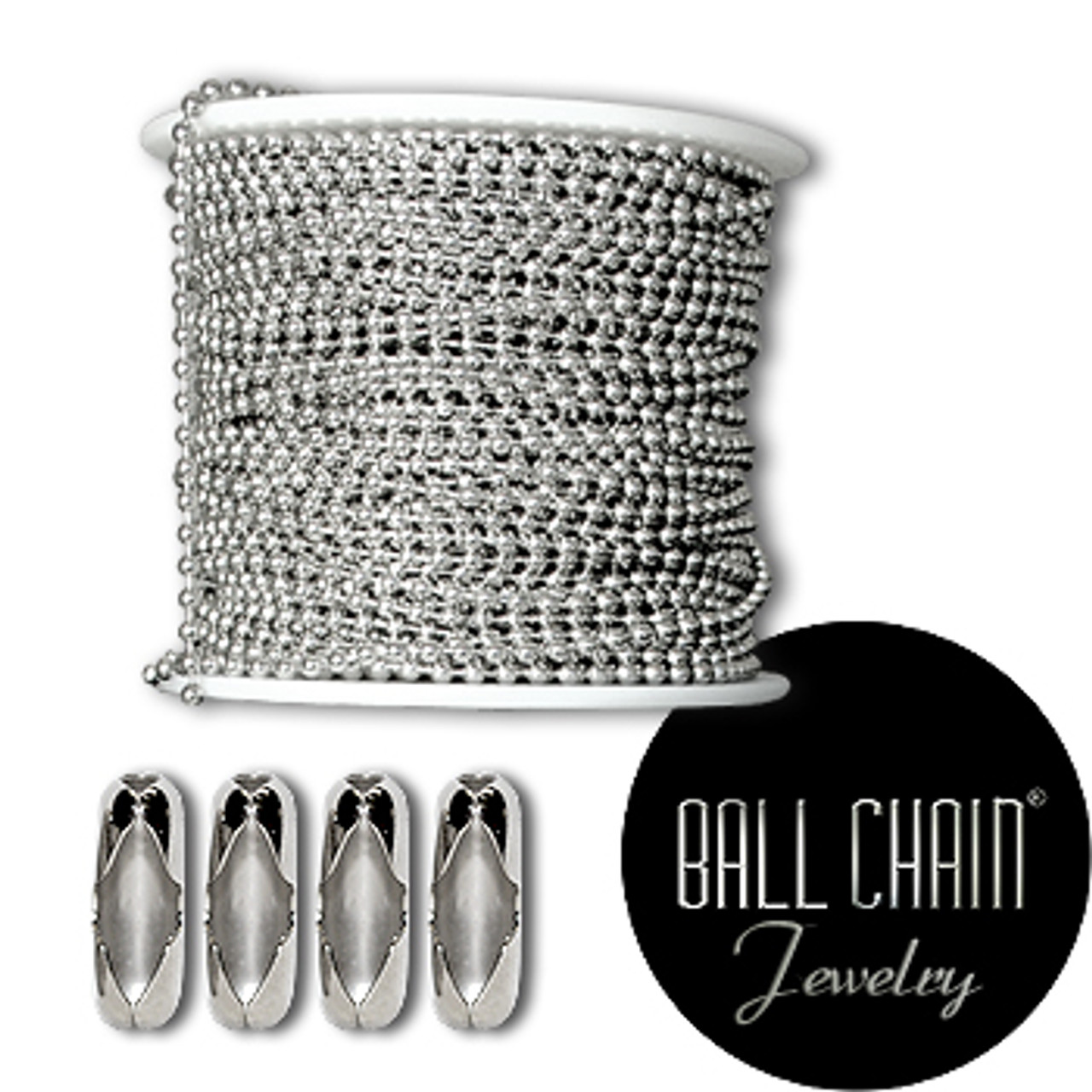 3.2 mm Sterling Silver Ball Chain Spool TEST