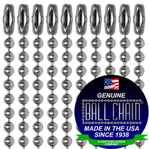 #3 Stainless Steel Ball Chains with Connector - 24 Inch Length