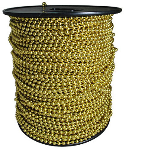 #6 Brass Plated Bead Chain Spool sold at low factory direct prices and made in the USA.