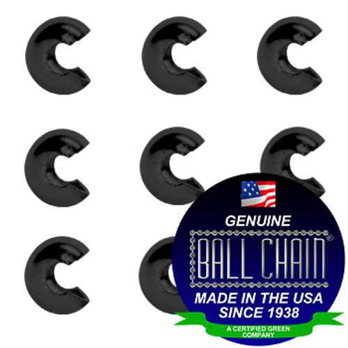 3/8 Inch Black Open Ball