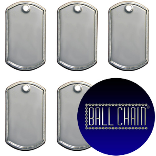Mini Dog Tags -Blank Rolled Edge Stainless Steel - Matte Finish