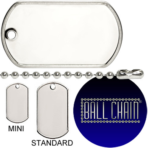 Sterling Silver Mini Dog Tags