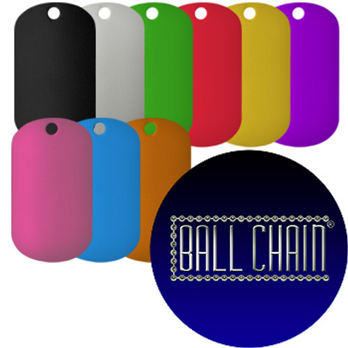 929c591fd100 Anodized Aluminum Color Dog Tags (0.8 mm thick) - Ball Chain ...