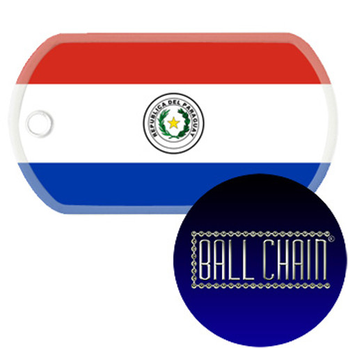 Paraguay Flag Color Printed Rolled Edge Stainless Steel Dog Tag