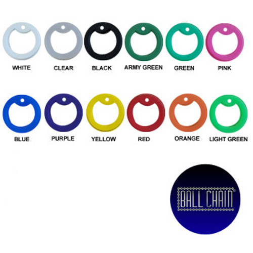 This image show the different solid silicone dong tag silencers available for purchase. Those colors are: White, clear, black, army green, green, pink, blue, purple, yellow, red, orange, light green.