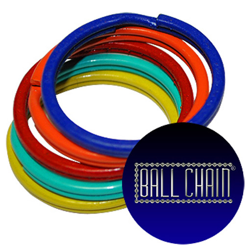 24mm Color Split Key Rings