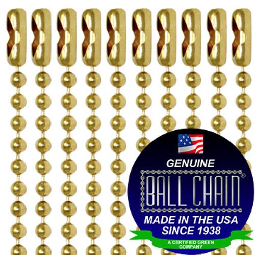 #3 Gilding Metal Key Chains - 4 Inch Length
