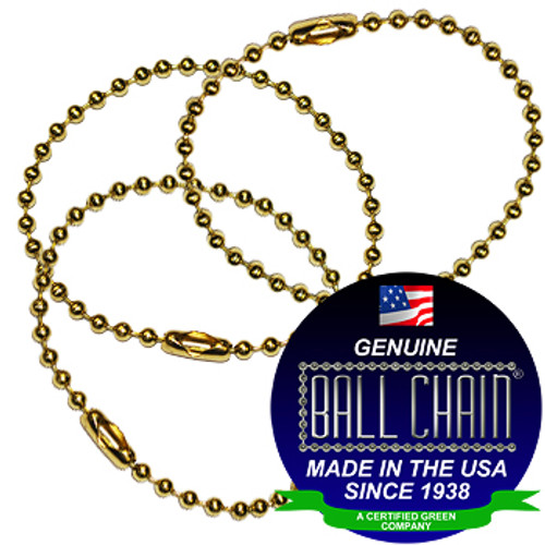 #3 Yellow Brass Key Chains - 4.5 Inch Length