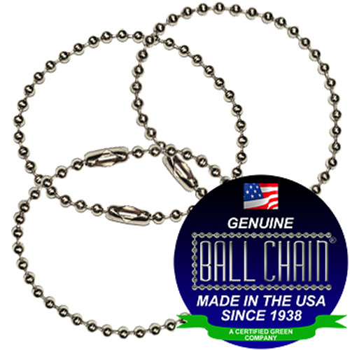 #6 Nickel Plated Brass Key Chains - 6 Inch Length