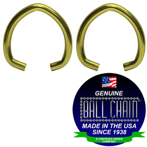 .080 Inch Small Oval Jump Rings - Brass Plated Steel