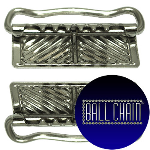 Nickel Plated Metal Clamps - 26 mm Length (BCM38)