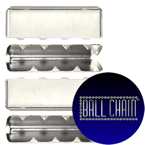 Nickel Plated Metal Clamps - 26 mm Length (BCM43)