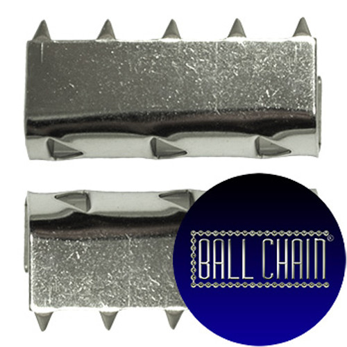 Nickel Plated Metal Clamps - 9 mm Length (BCM50)