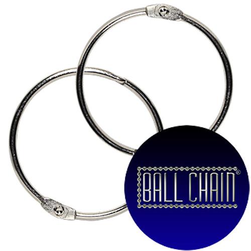 3 inch nickel plated steel binder rings AKA loose leaf rings.