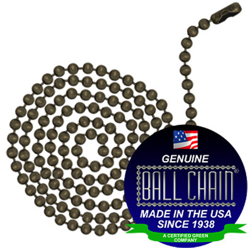 #6 Ball Chains Pre-Cut Three Foot Length Medieval Brass