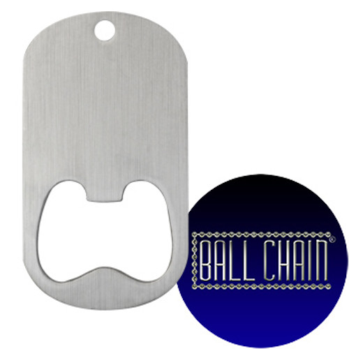 Dog Tag Bottle Openers - Middle Slot