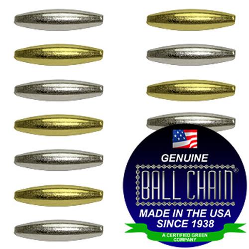 3.2mm x 6.9mm Elliptical Bars - Nickel Plated Brass, Yellow Brass, or Gilding Metal