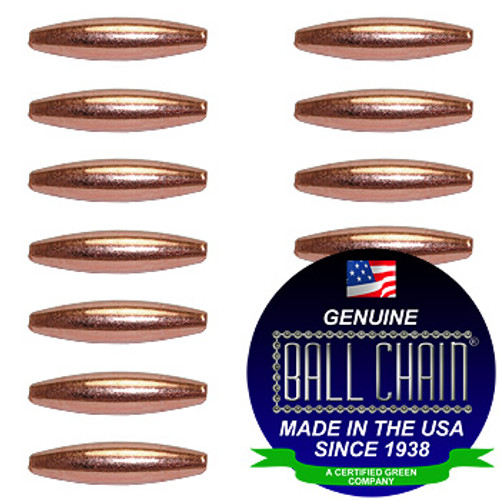 4.8mm x 19mm Elliptical Bars - Copper