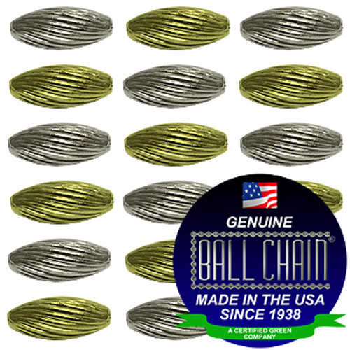 3.2mm x 6.9mm Elliptical Bars Spiral - Nickel Plated Brass, Yellow Brass, or Gilding Metal