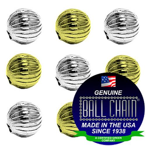 8.0mm Spiral Beads - Nickel Plated Brass, Yellow Brass, or Gilding Metal