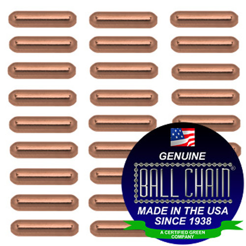4.8mm x 28.6mm Plain Bars - Copper