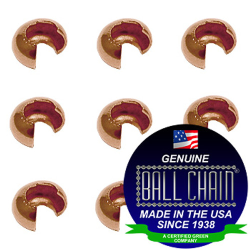 3.2mm Crimp Covers - Copper