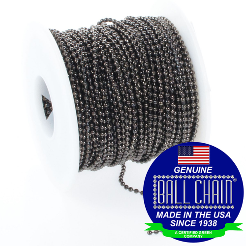 #3 ball chain spool in a gun metal finish.