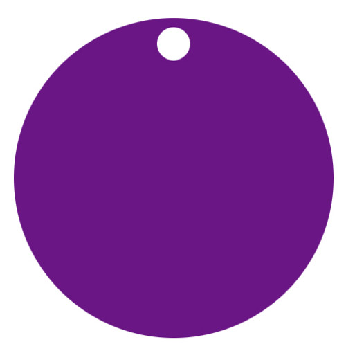 Purple Anodized Aluminum 1.5 inch Circle Tag