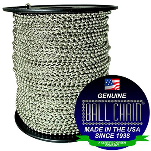 #20 Nickel Plated Brass Ball Chain Spool
