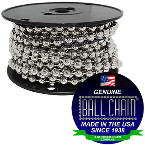 #50 Nickel Plated Steel Ball Chain Spool