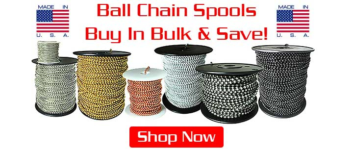 Ball Chain Spools & Rolls Hero Image.