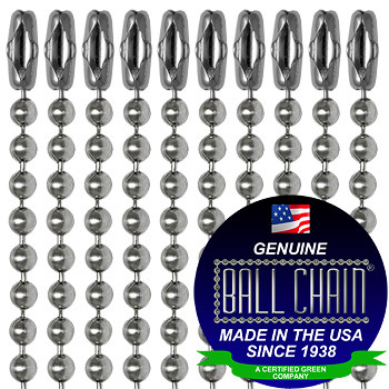 """100 Stainless Steel Military Army Dog Tags 100 Nickle Plated 30/"""" Ball Chains"""
