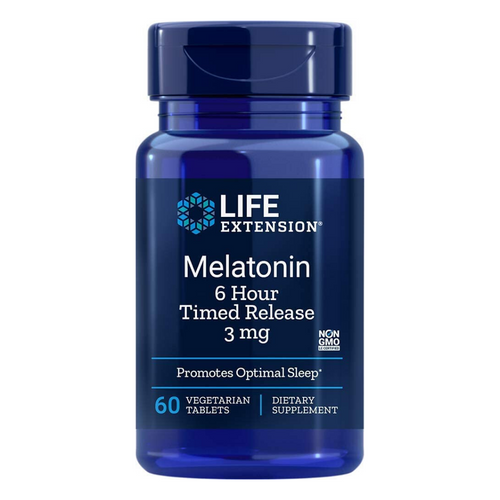 Life Extension Melatonin 6 Hour Timed Release 3 mg 60