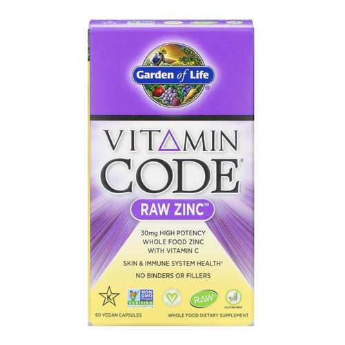Garden of Life Vitamin Code Raw Zinc 60