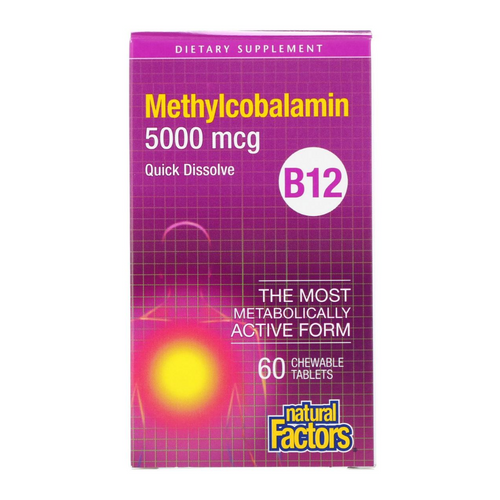 Natural Factors Methylcobalamin B 12 5000 mcg