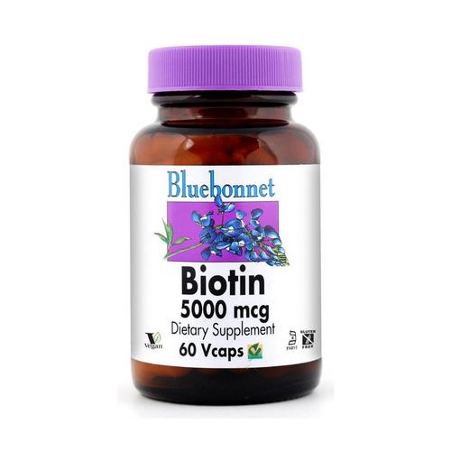 Bluebonnet Biotin 5000 mcg 60