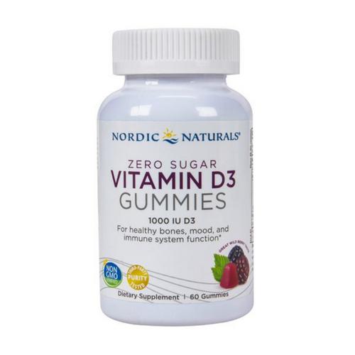 Nordic Naturals Zero Sugar Vitamin D3 Gummies 60