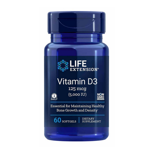 Life Extension Vitamin D3 5000 iu 60 softgels