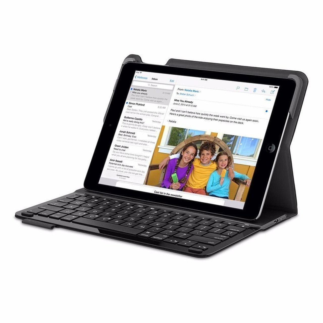 the latest 09d86 e0b93 Logitech Type+ Keyboard Case for iPad Air 1 (Black) | mac of all trades